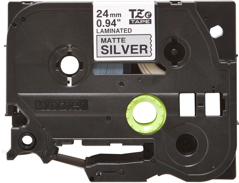 Cassetta nastro per etichettatura originale Brother TZe-M951 – Nero su argento opaco, 24 mm di larghezza