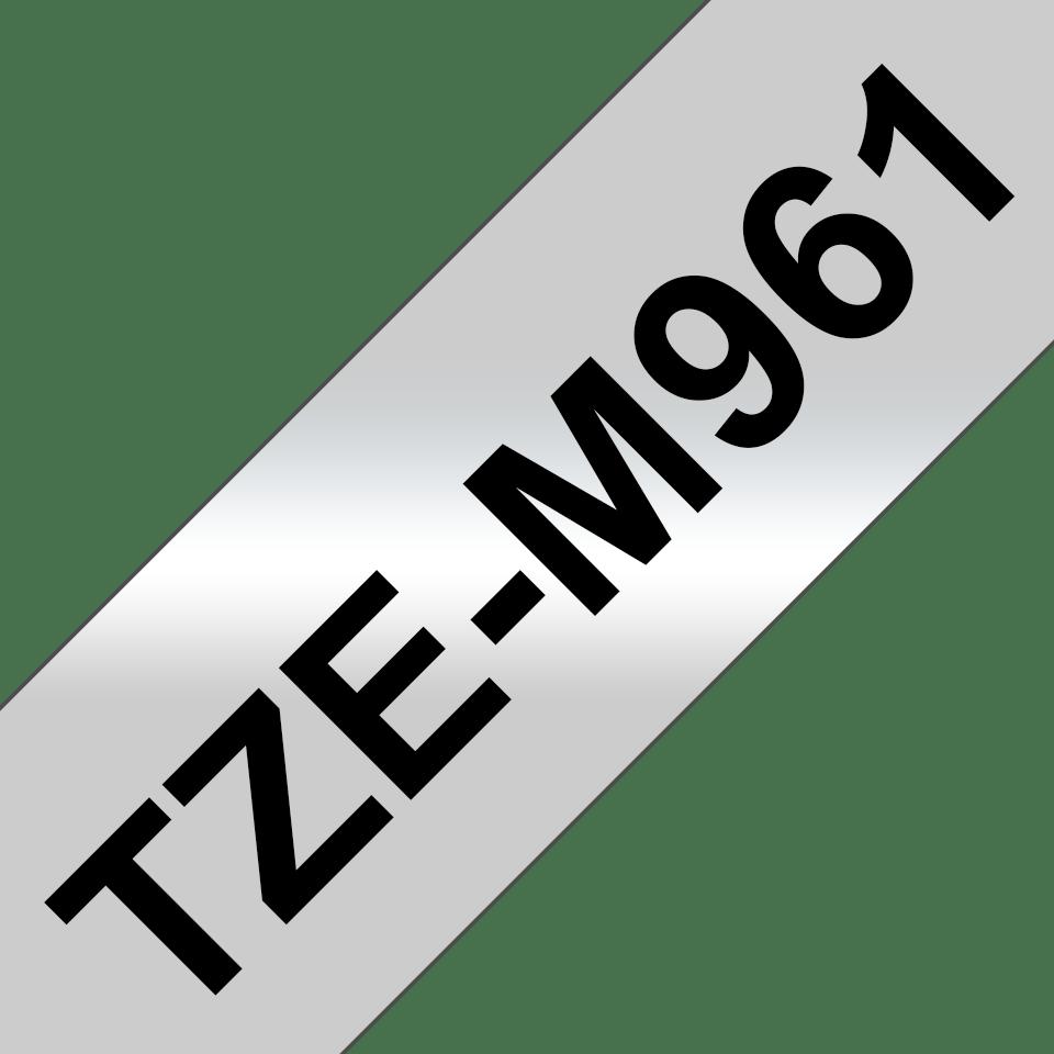 Cassetta nastro per etichettatura originale Brother TZe-M961 – Nero su argento opaco, 36 mm di larghezza 3