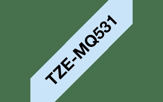 Brother TZe-MQ531 Nastro originale – laminato, nero su blu pastello, 12 mm di larghezza 3