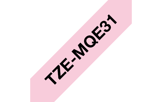 Brother TZe-MQE31 Nastro originale - laminato, nero su rosa pastello, 12 mm di larghezza 3