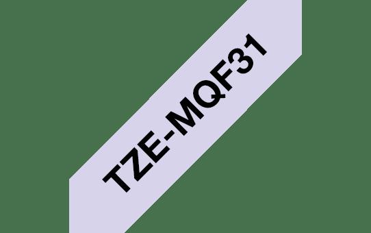 Brother TZe-MQF31 Nastro originale - laminato, nero su fondo lilla pastello, 12 mm di larghezza 3