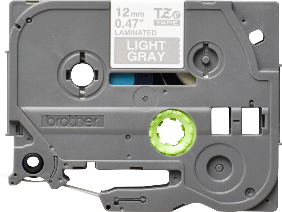 Nastro per etichettatura originale Brother TZe-MQL35 – Bianco su grigio, 12 mm di larghezza