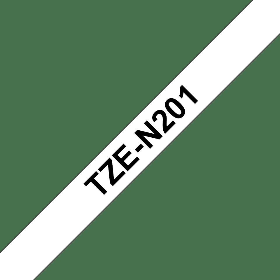 Cassetta nastro per etichettatura originale Brother TZe-N201 – Nero su bianco, 3,5 mm di larghezza 3