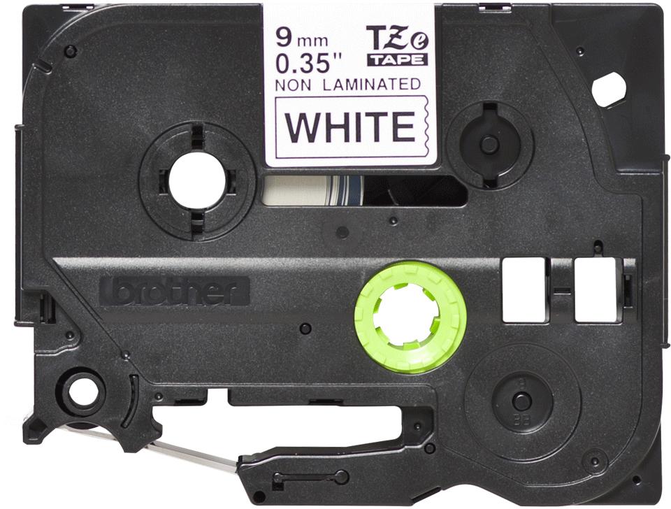 Cassetta nastro per etichettatura originale Brother TZe-N221 – Nero su bianco, 9 mm di larghezza