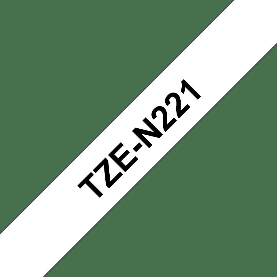 Cassetta nastro per etichettatura originale Brother TZe-N221 – Nero su bianco, 9 mm di larghezza 3