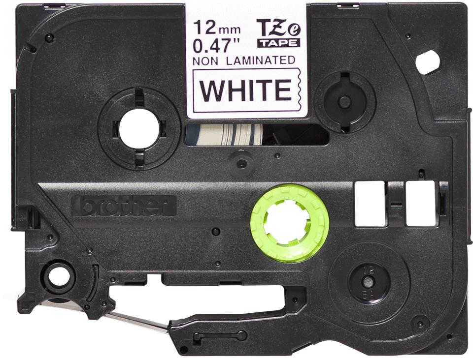 Cassetta nastro per etichettatura originale Brother TZe-N231 – Nero su bianco, 12 mm di larghezza
