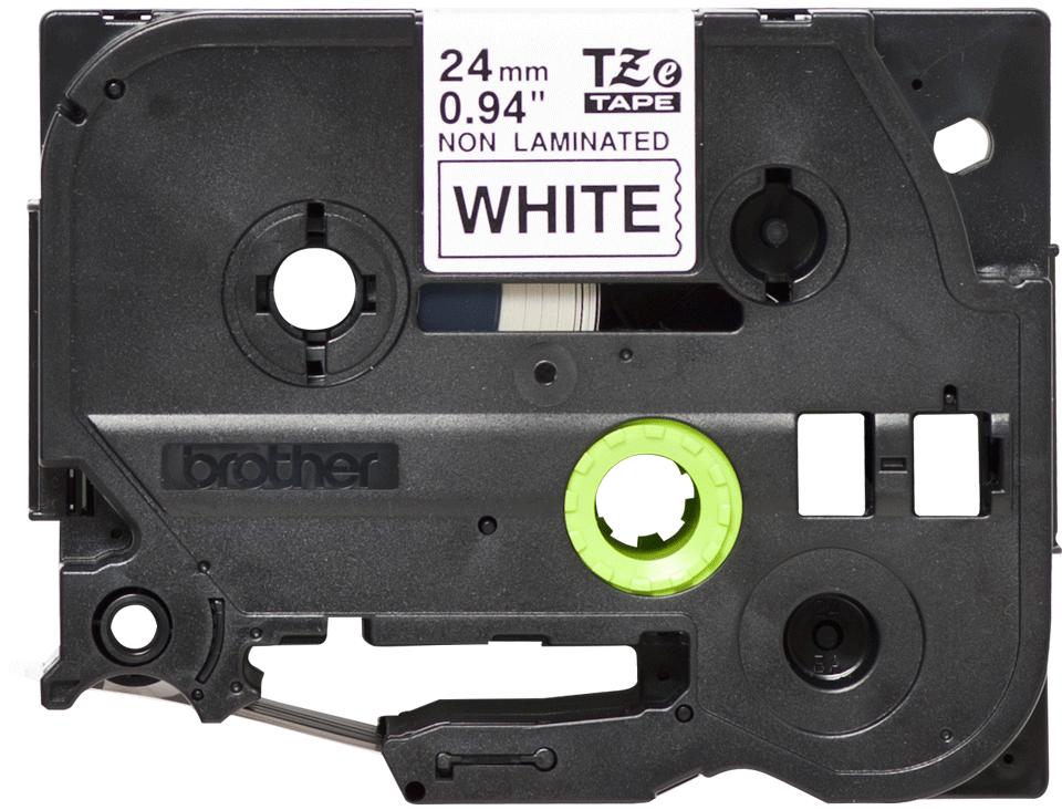 Cassetta nastro per etichettatura originale Brother TZe-N251 – Nero su bianco, 24 mm di larghezza