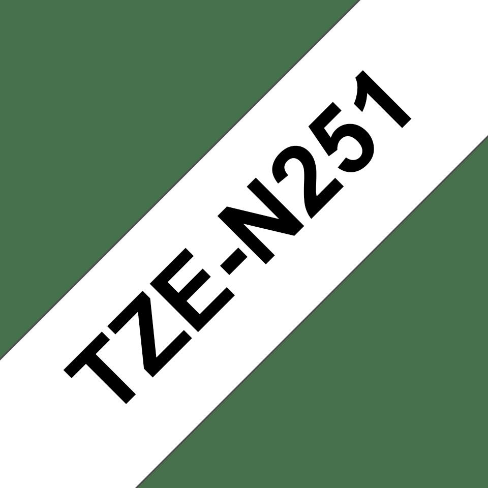 Cassetta nastro per etichettatura originale Brother TZe-N251 – Nero su bianco, 24 mm di larghezza 3