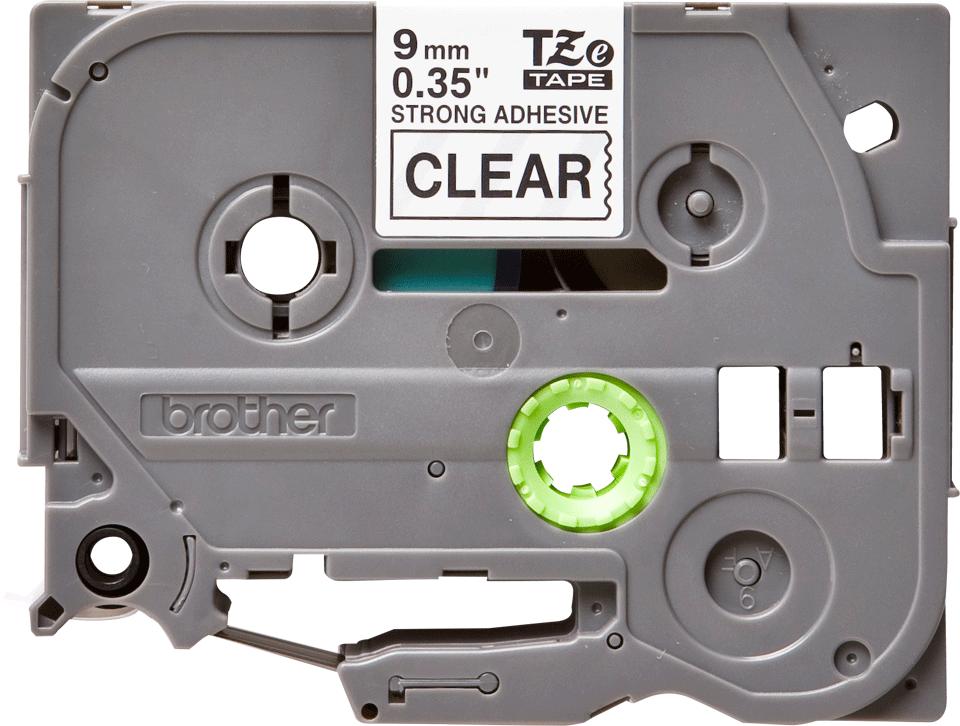 Cassetta nastro per etichettatura originale Brother TZe-S121 – Nero su trasparente, 9 mm di larghezza