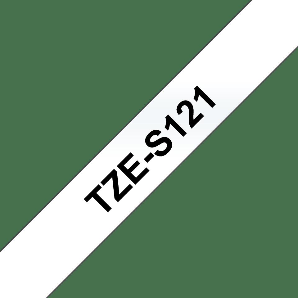 Cassetta nastro per etichettatura originale Brother TZe-S121 – Nero su trasparente, 9 mm di larghezza 3