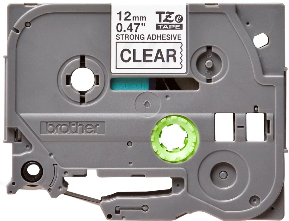 Cassetta nastro per etichettatura originale Brother TZe-S131 – Nero su trasparente, 12 mm di larghezza