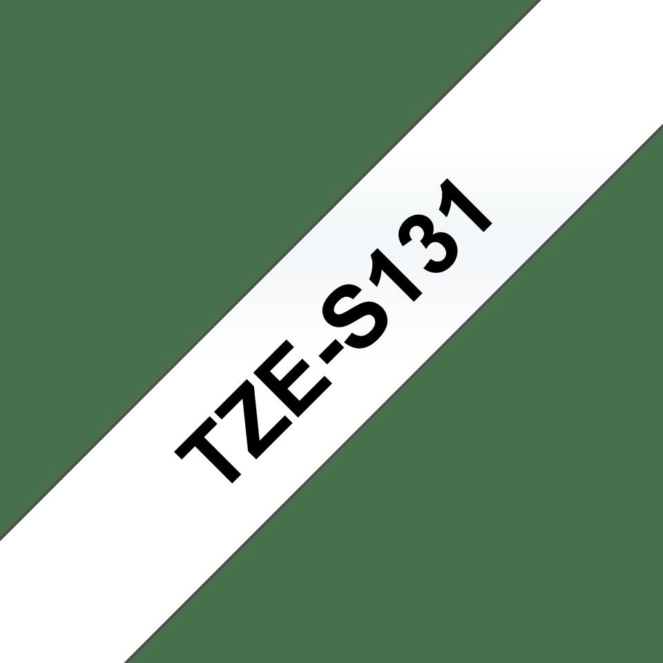 Cassetta nastro per etichettatura originale Brother TZe-S131 – Nero su trasparente, 12 mm di larghezza 3