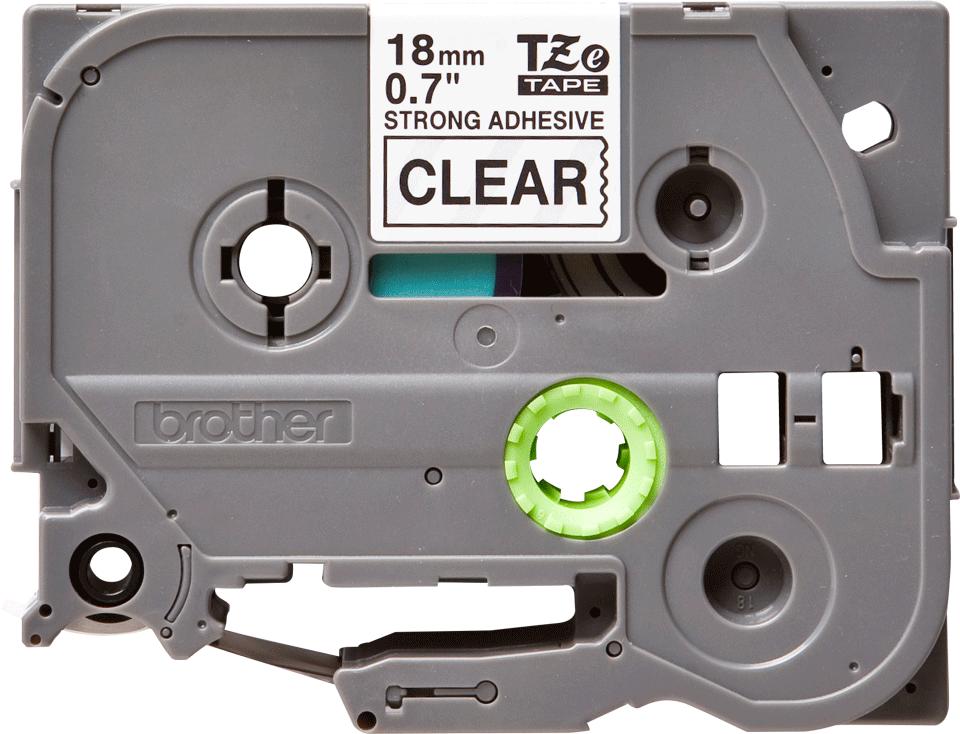Cassetta nastro per etichettatura originale Brother TZe-S141 – Nero su trasparente, 18 mm di larghezza