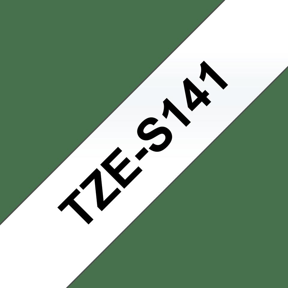 Cassetta nastro per etichettatura originale Brother TZe-S141 – Nero su trasparente, 18 mm di larghezza 3