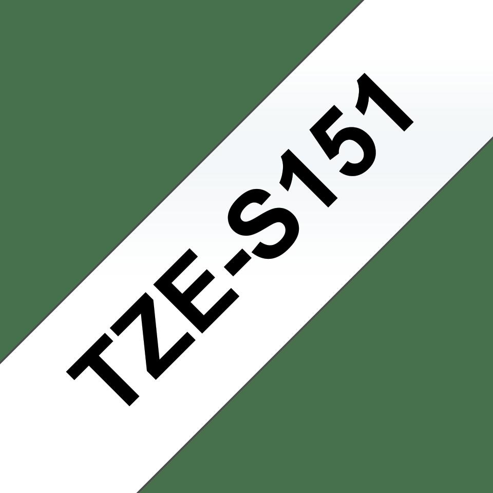 Cassetta nastro per etichettatura originale Brother TZe-S151 – Nero su trasparente, 24 mm di larghezza 3