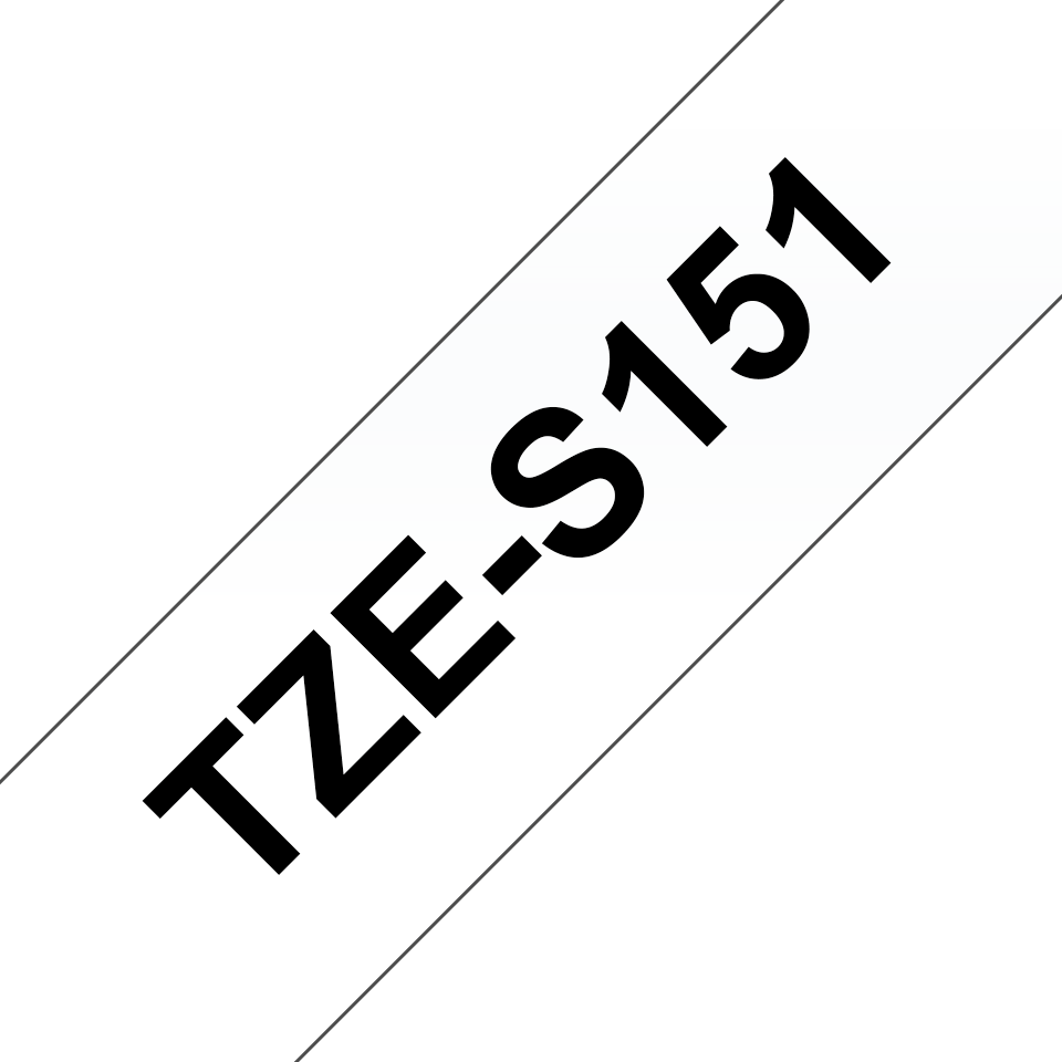 Cassetta nastro per etichettatura originale Brother TZe-S151 – Nero su trasparente, 24 mm di larghezza 2