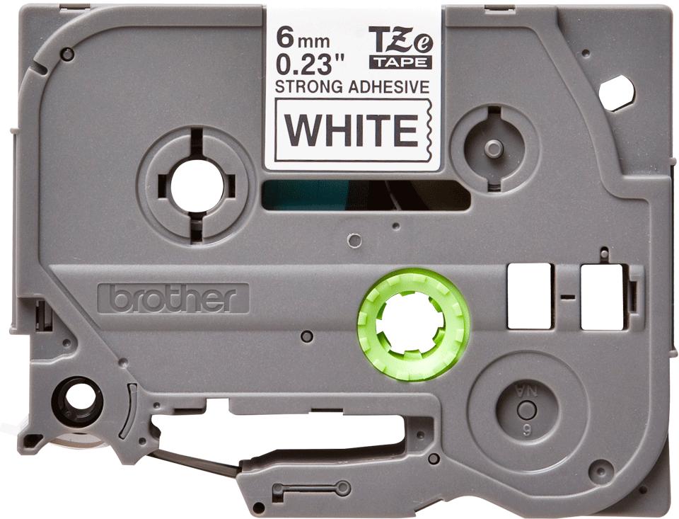 Cassetta nastro per etichettatura originale Brother TZe-S211 – Nero su bianco, 6 mm di larghezza