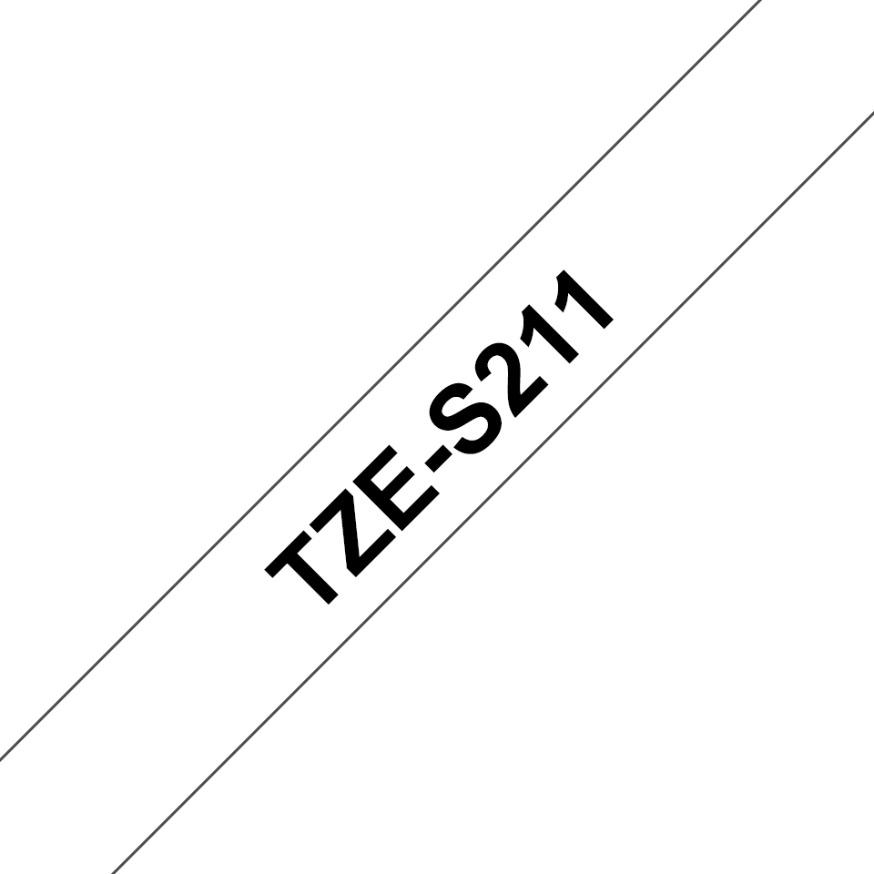 Cassetta nastro per etichettatura originale Brother TZe-S211 – Nero su bianco, 6 mm di larghezza 3