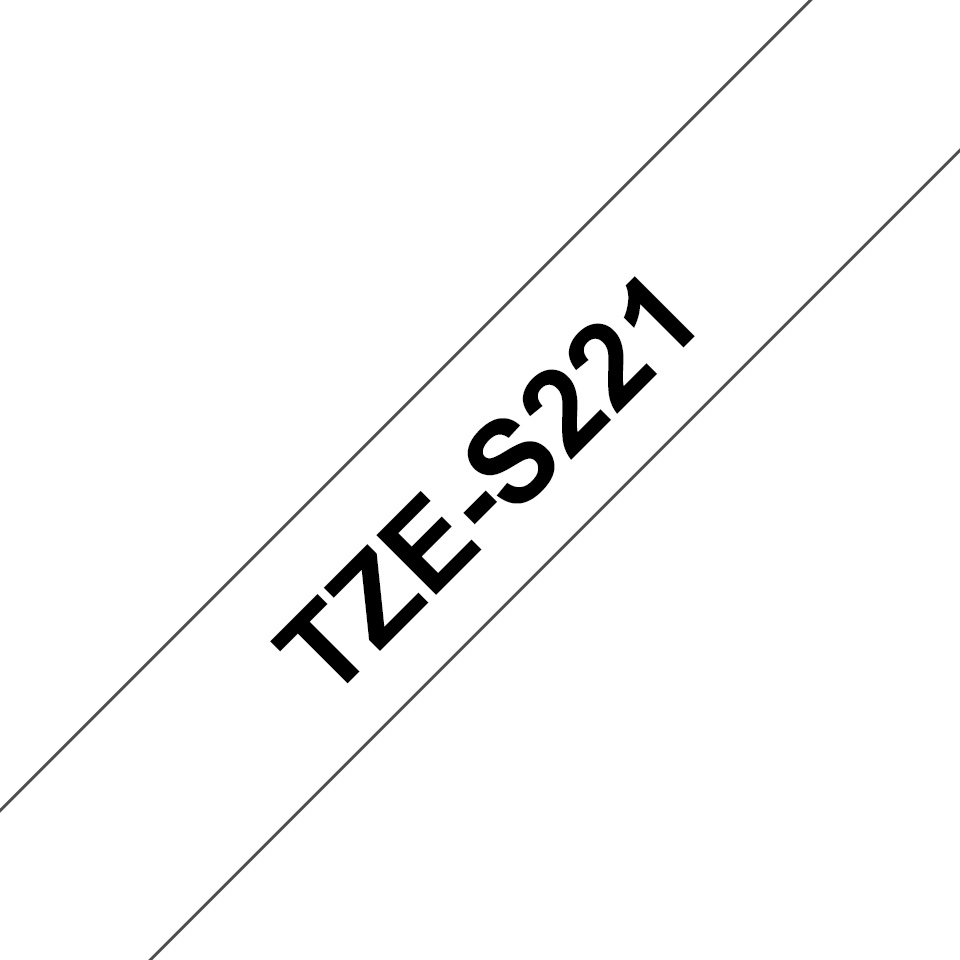 Cassetta nastro per etichettatura originale Brother TZe-S221 – Nero su bianco, 9 mm di larghezza 3