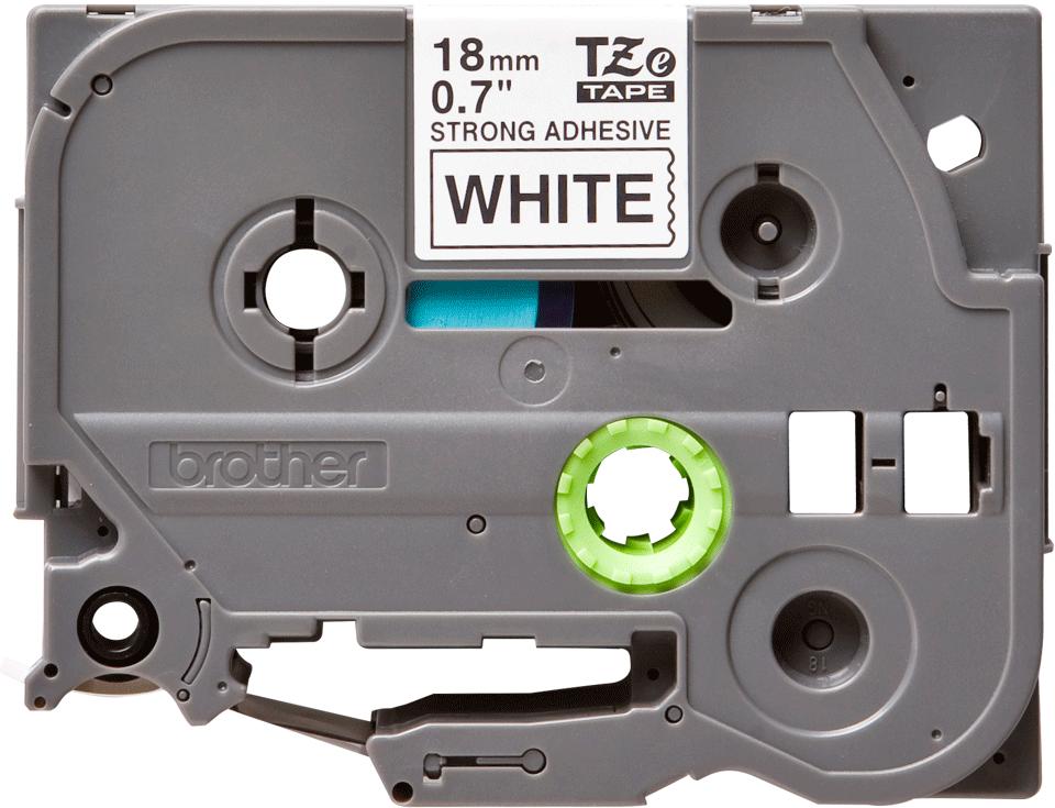 Brother TZe-S241 Nastro originale con adesivo per etichettatrici, 18 mm - nero su bianco 0