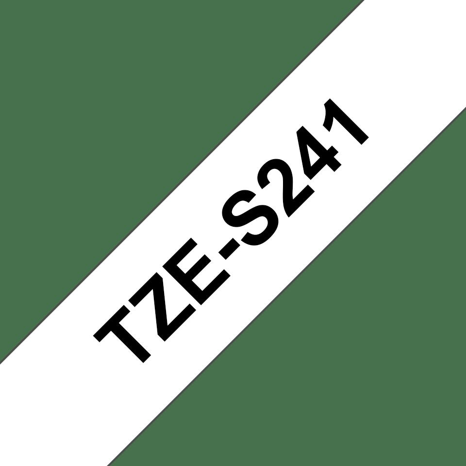 Brother TZe-S241 Nastro originale con adesivo per etichettatrici, 18 mm - nero su bianco 2