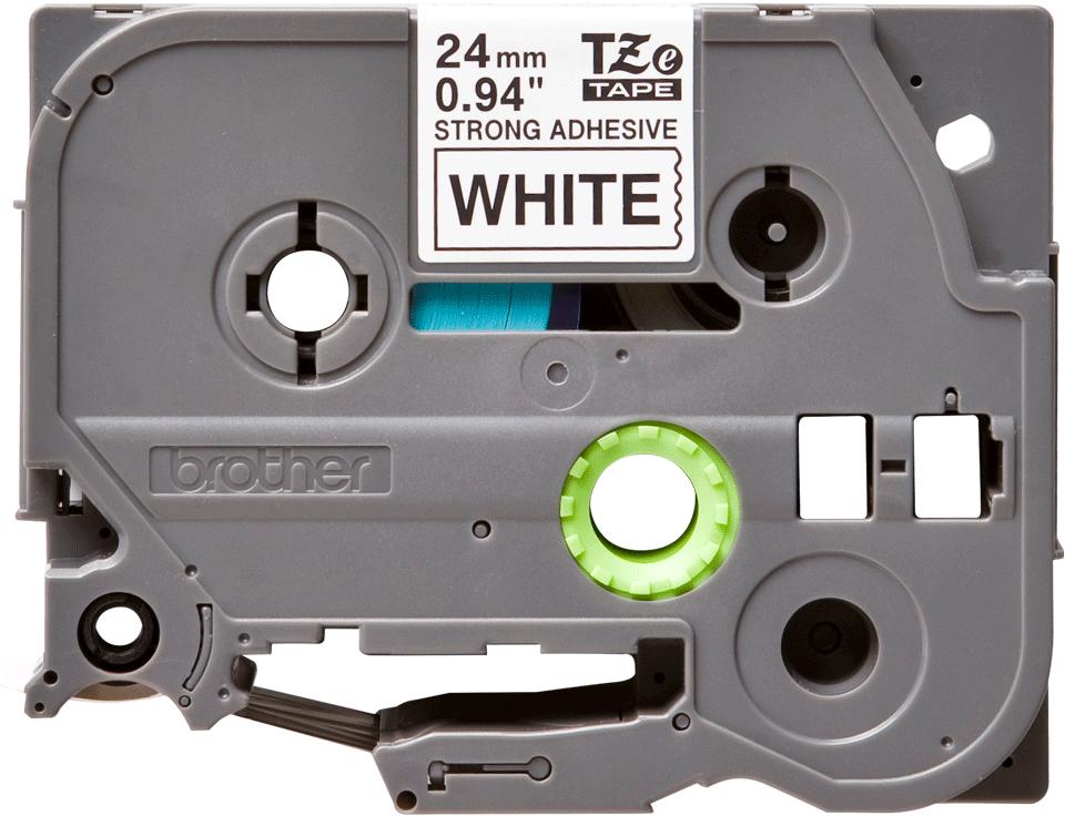Cassetta nastro per etichettatura originale Brother TZe-S251 – Nero su bianco, 24 mm di larghezza