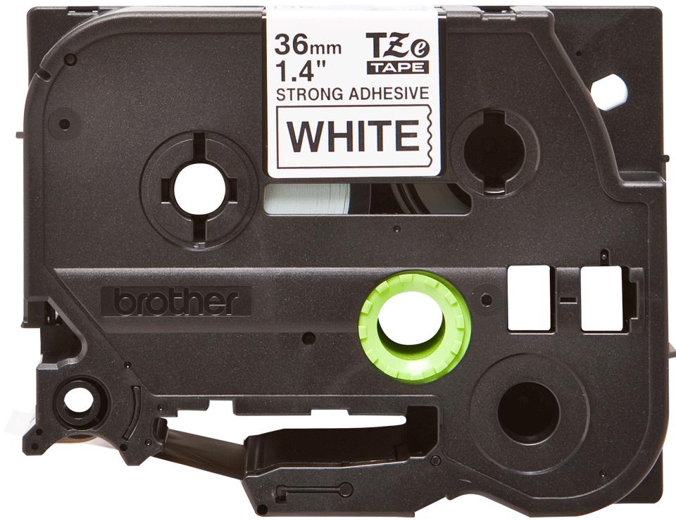 Cassetta nastro per etichettatura originale Brother TZe-S261 – Nero su bianco, 36 mm di larghezza