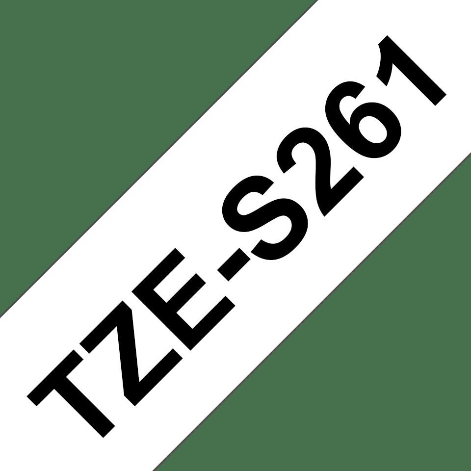 Cassetta nastro per etichettatura originale Brother TZe-S261 – Nero su bianco, 36 mm di larghezza 3