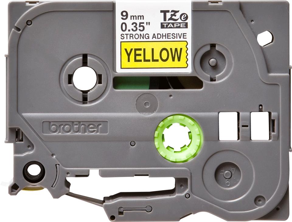 Cassetta nastro per etichettatura originale Brother TZe-S621 – Nero su giallo, 9 mm di larghezza