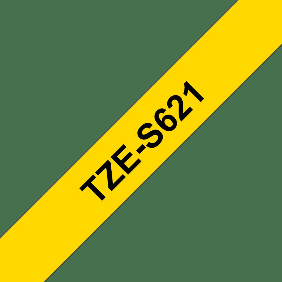 Cassetta nastro per etichettatura originale Brother TZe-S621 – Nero su giallo, 9 mm di larghezza 3