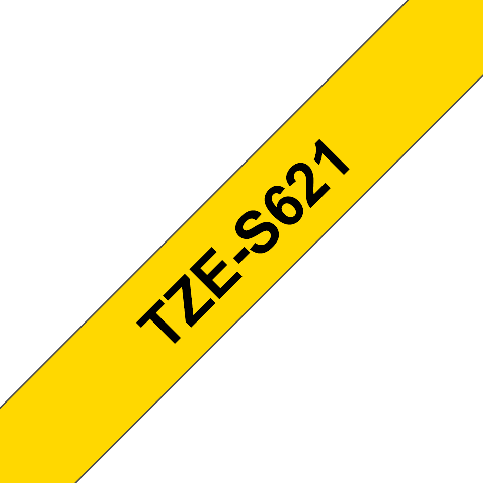 Cassetta nastro per etichettatura originale Brother TZe-S621 – Nero su giallo, 9 mm di larghezza 2