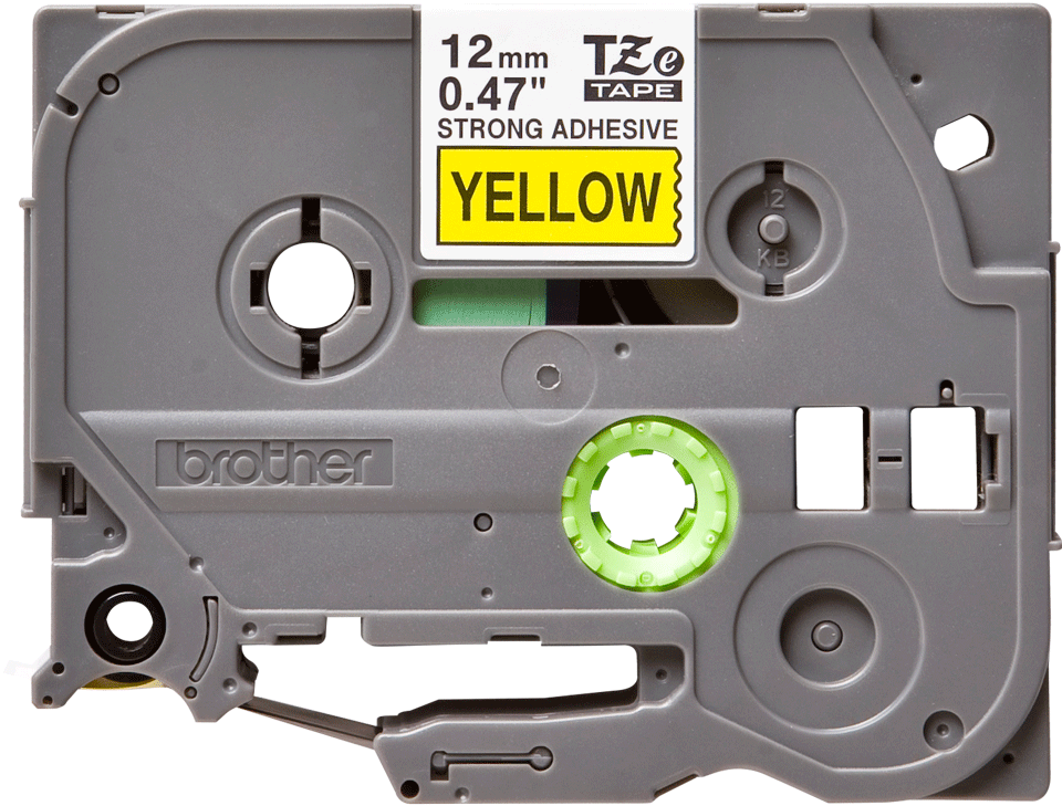 Cassetta nastro per etichettatura originale Brother TZe-S631 – Nero su giallo, 12 mm di larghezza
