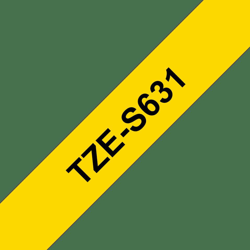 Cassetta nastro per etichettatura originale Brother TZe-S631 – Nero su giallo, 12 mm di larghezza 3