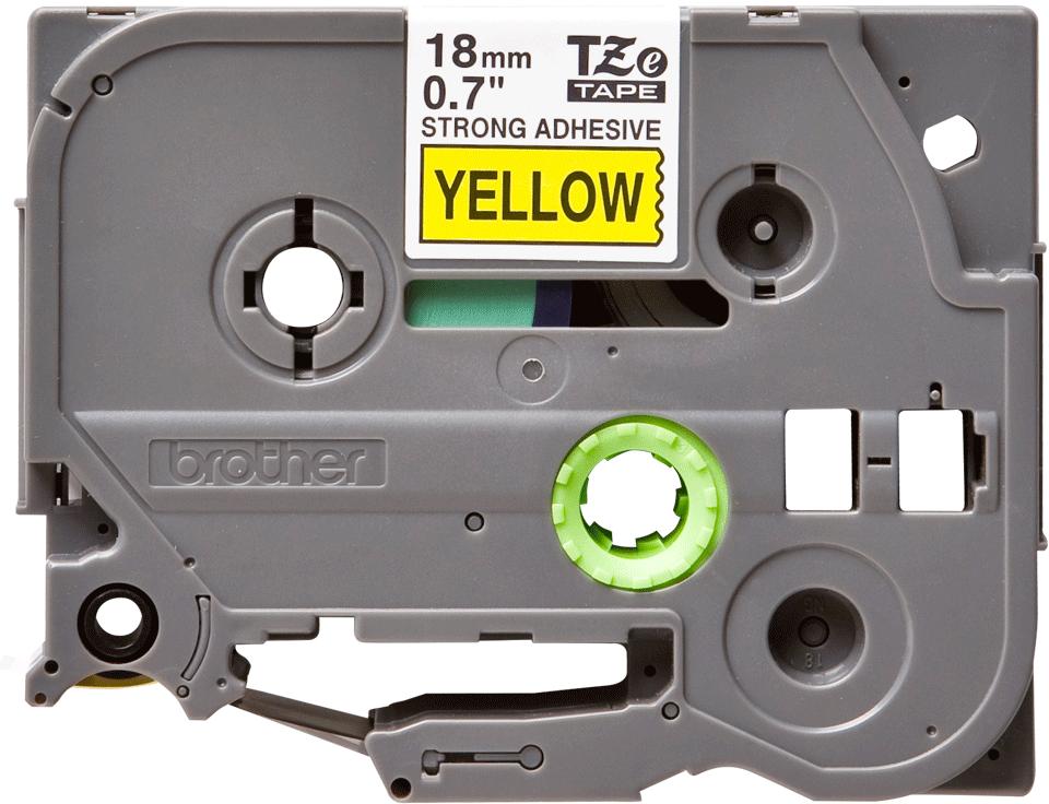 Cassetta nastro per etichettatura originale Brother TZe-S641 – Nero su giallo, 18 mm di larghezza