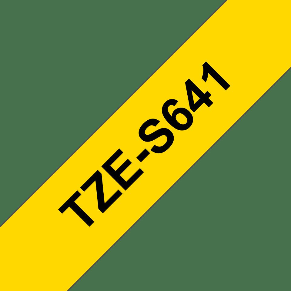 Cassetta nastro per etichettatura originale Brother TZe-S641 – Nero su giallo, 18 mm di larghezza 3