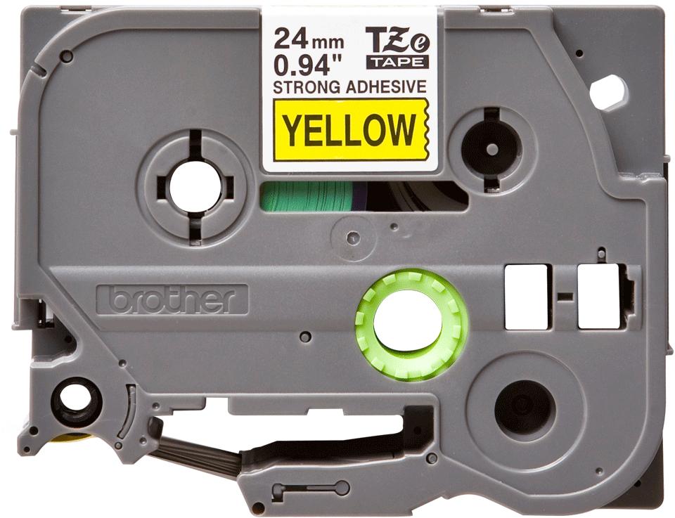 Cassetta nastro per etichettatura originale Brother TZe-S651 – Nero su giallo, 24 mm di larghezza