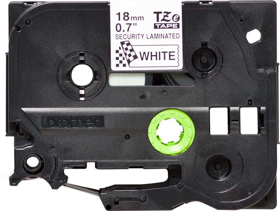 Cassetta nastro per etichettatura originale Brother TZe-SE4 – Nero su bianco, 18 mm di larghezza 3