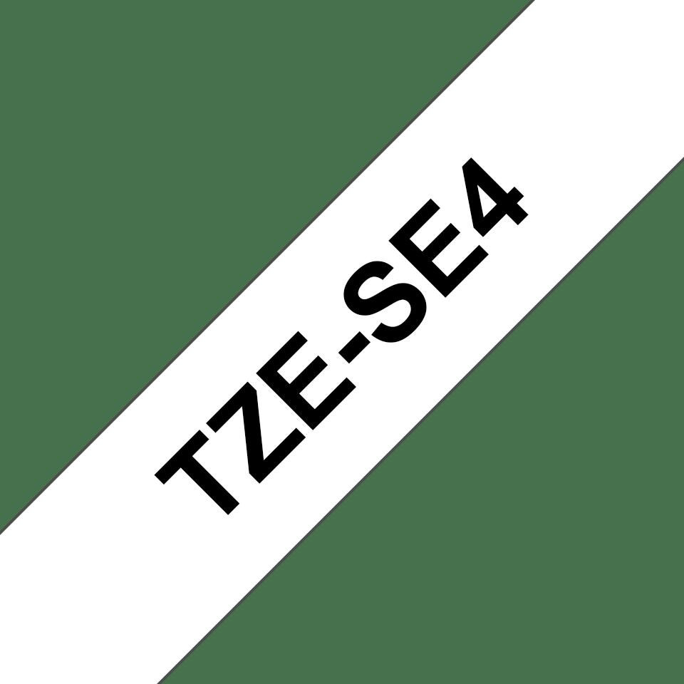 Cassetta nastro per etichettatura originale Brother TZe-SE4 – Nero su bianco, 18 mm di larghezza 2