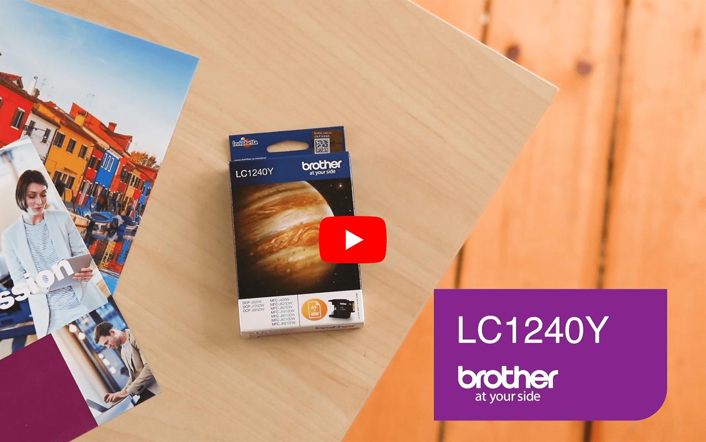Brother LC1240Y Cartuccia inket originale - giallo 5