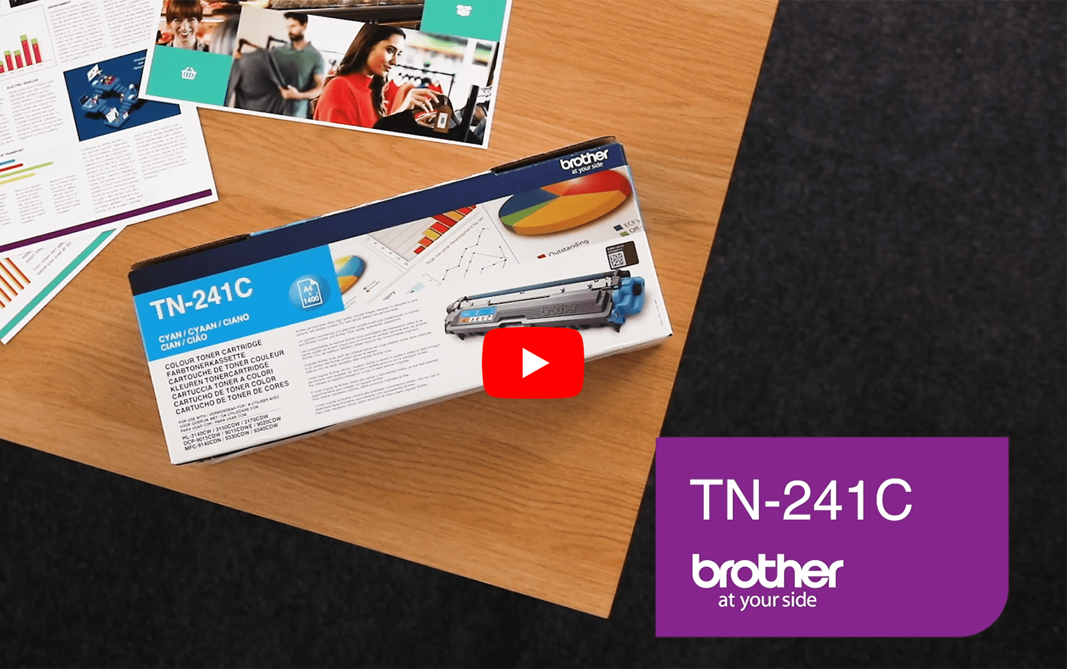 Brother TN-241C Toner standard originale - ciano 5