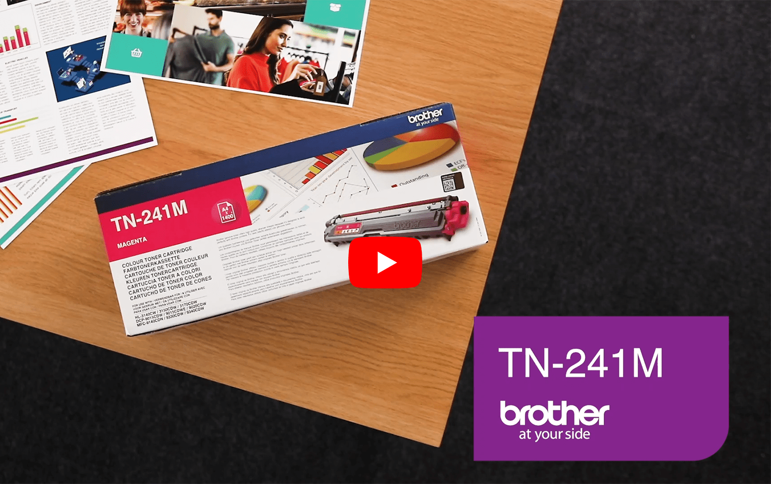 Brother TN-241M Toner standard originale - magenta 5
