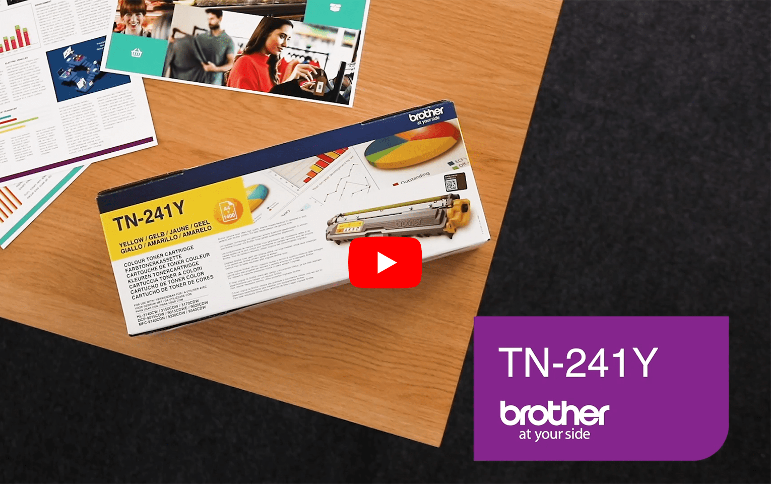 Brother TN-241Y Toner standard originale - giallo 5